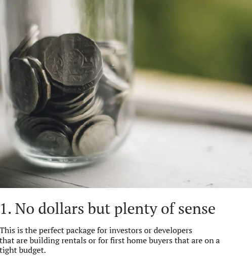 No dollars but plenty of sense
